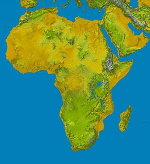 Altitude map of Africa